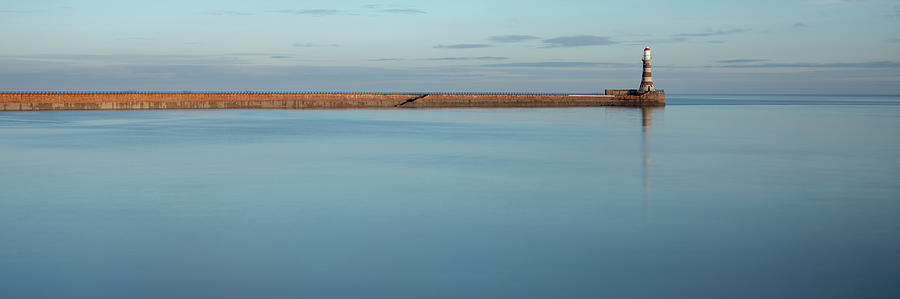 Roker Photograph - Calm Roker Panoramic by Steev Stamford