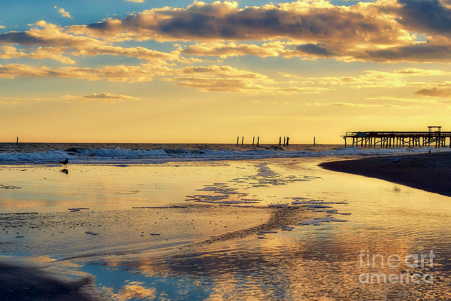 Calm Sunset In Myrtle Beach by Kathy Baccari