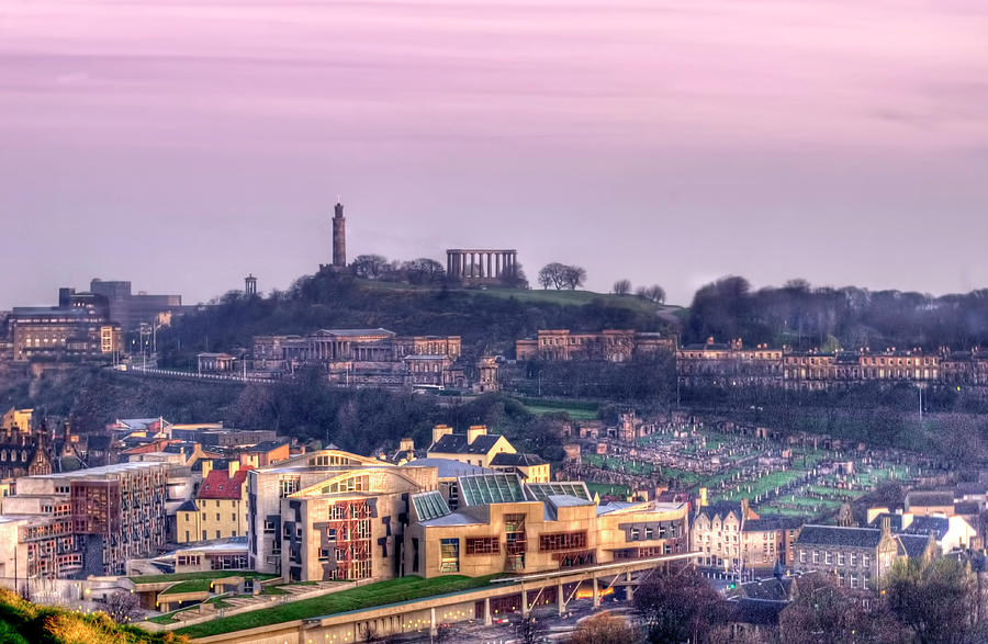 Calton Hill Morning Photograph by Steven Mccaig