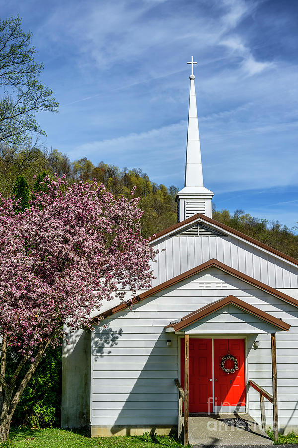 Calvary Baptist Church in Spring by Thomas R Fletcher