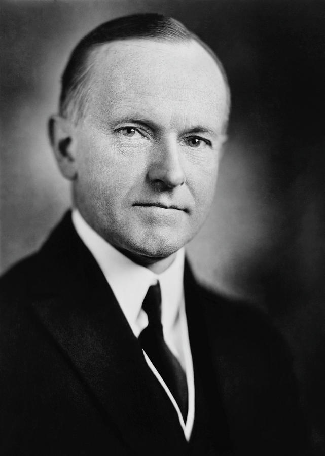 Calvin Coolidge Portrait - 1924 by War Is Hell Store