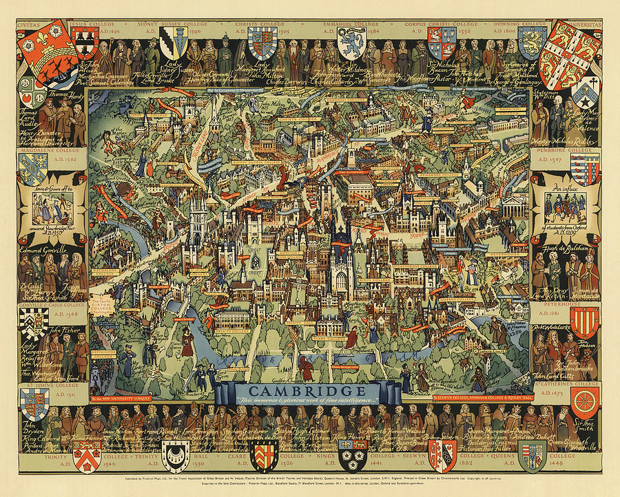 Cambridge, England. - Pictorial, Vintage, Old Map on cambridge bridge, cambridge london, cambridge flag, cambridge dorms, cambridge united kingdom, cambridge id, university of oxford, cambridge ontario population, cambridge ohio restaurants, cambridge md, cambridge high school, cambridge new york, cambridge university, cambridge ma zip, cambridge oh, cambridge punting, ely nevada map, cambridge il, university of cambridge, cambridge britain, cambridge uk, barcelona spain map,
