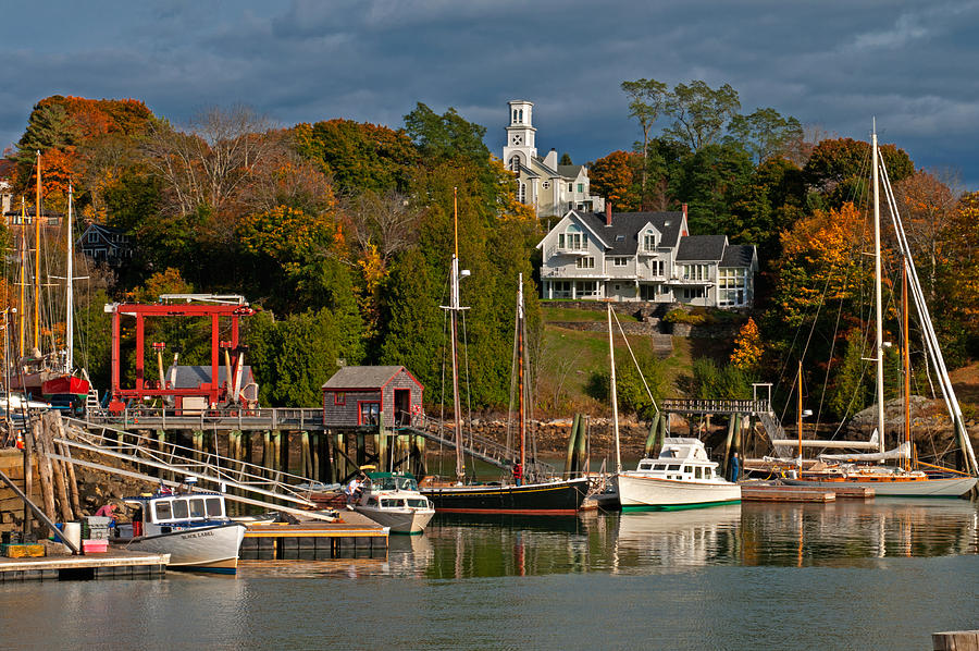 Camden Harbor by Paul Mangold