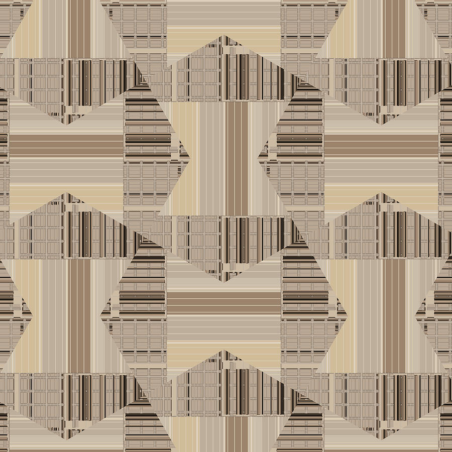 Camel Beige Pattern Art by Judi Suni Hall