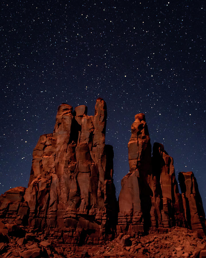 Camel Butte under the Night Sky by William Christiansen