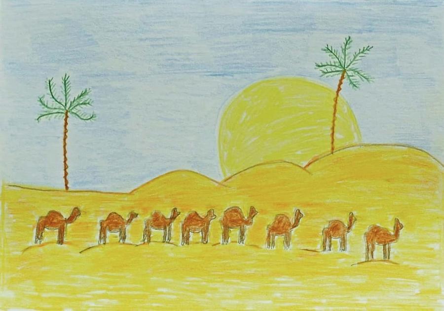 Camels 1 by Magdalena Frohnsdorff