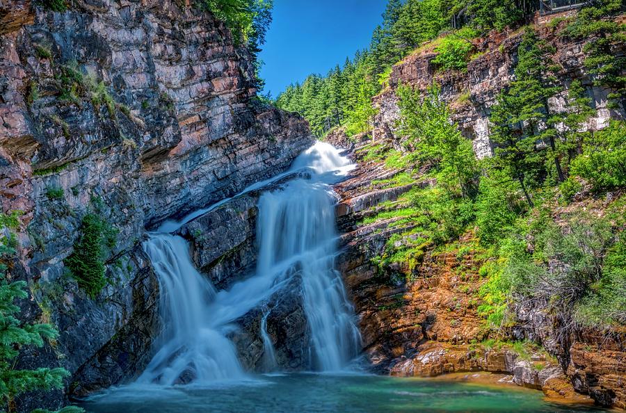 Cameron Falls, Waterton National Park by Roderick Bley