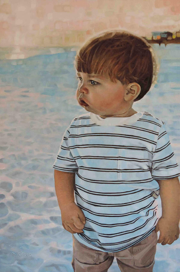 Camille's Grandson at the Beach by T S Carson
