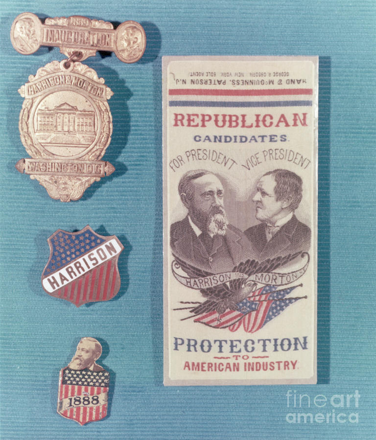 Campaign Items For Benjamin Harrison Photograph by Bettmann