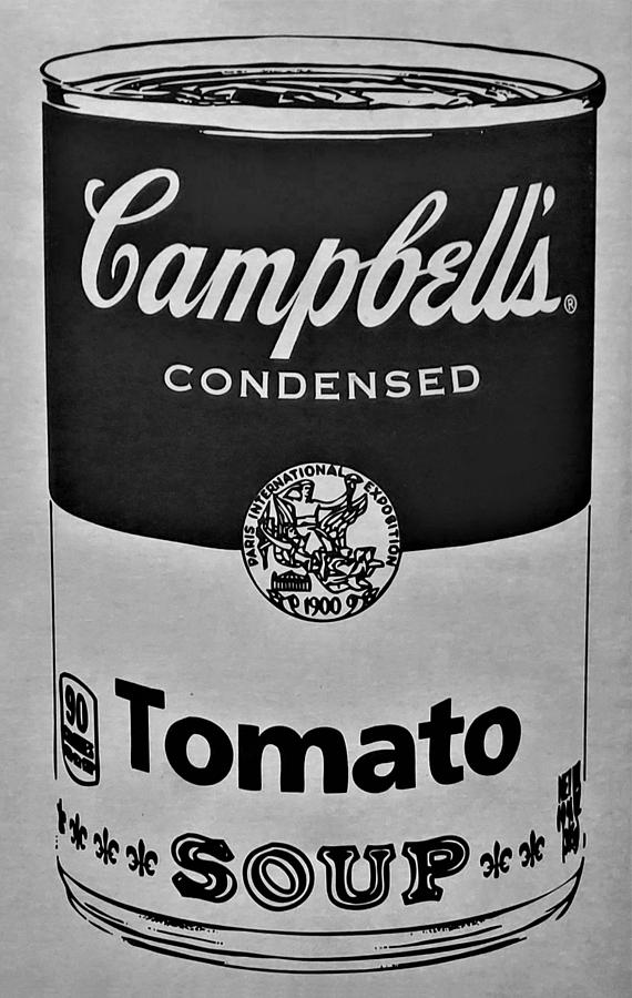 CAMPBELL'S SOUP in BLACK AND WHITE by Rob Hans