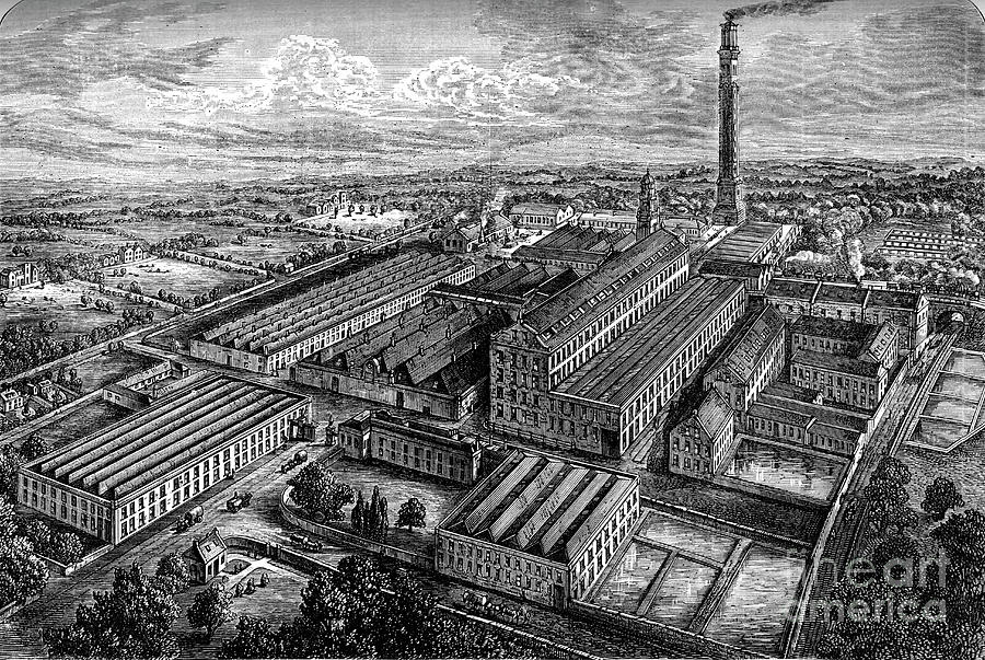 Camperdown Linen Works, Dundee, C1880 Drawing by Print Collector