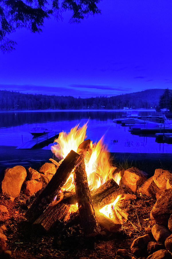 Campfire By The Lake Photograph