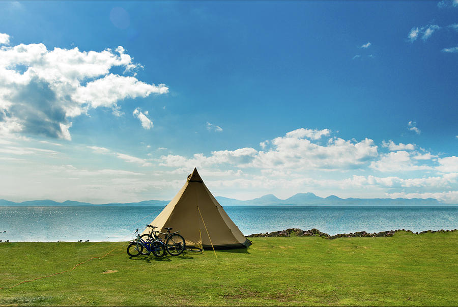 Camping At Coast Photograph by Paul Mcgee