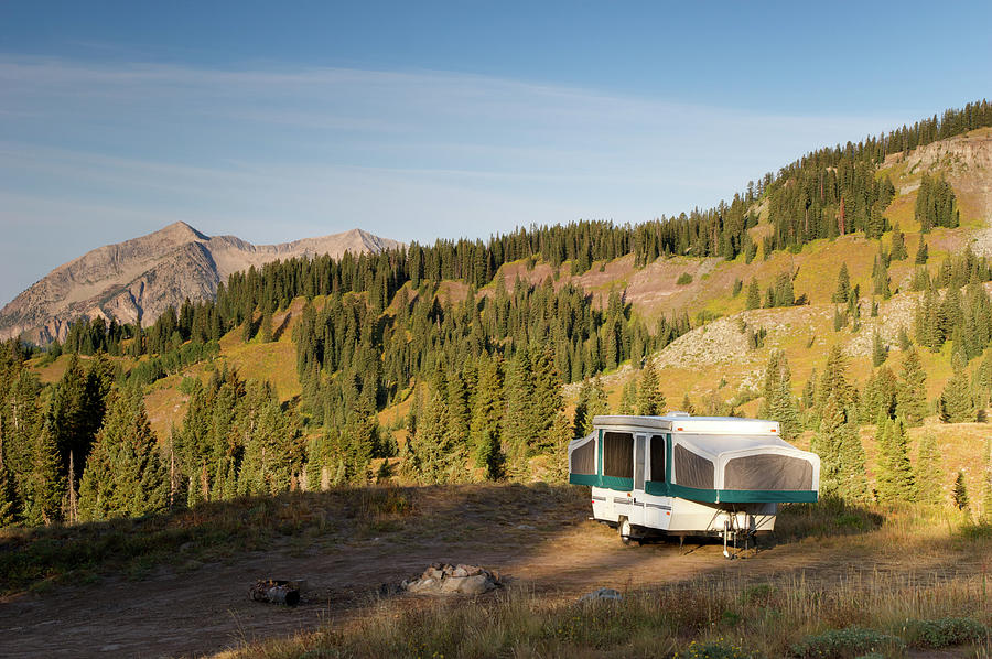Camping In The Rockies Photograph by Beklaus