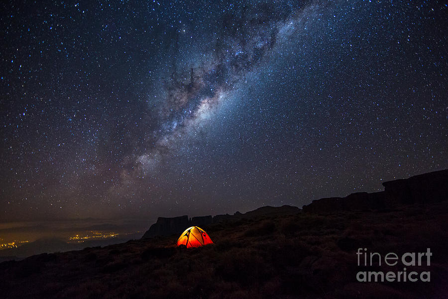 Atmosphere Photograph - Camping Under The Stars. The Milky Way by Tcs Photography