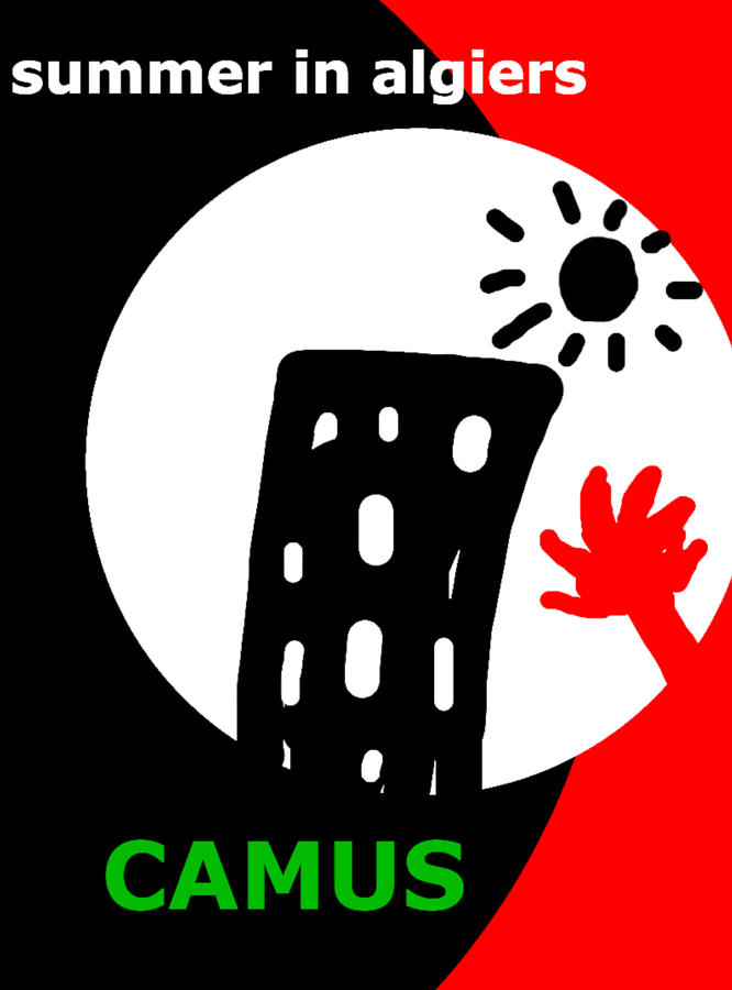 camus algiers poster  by Paul Sutcliffe