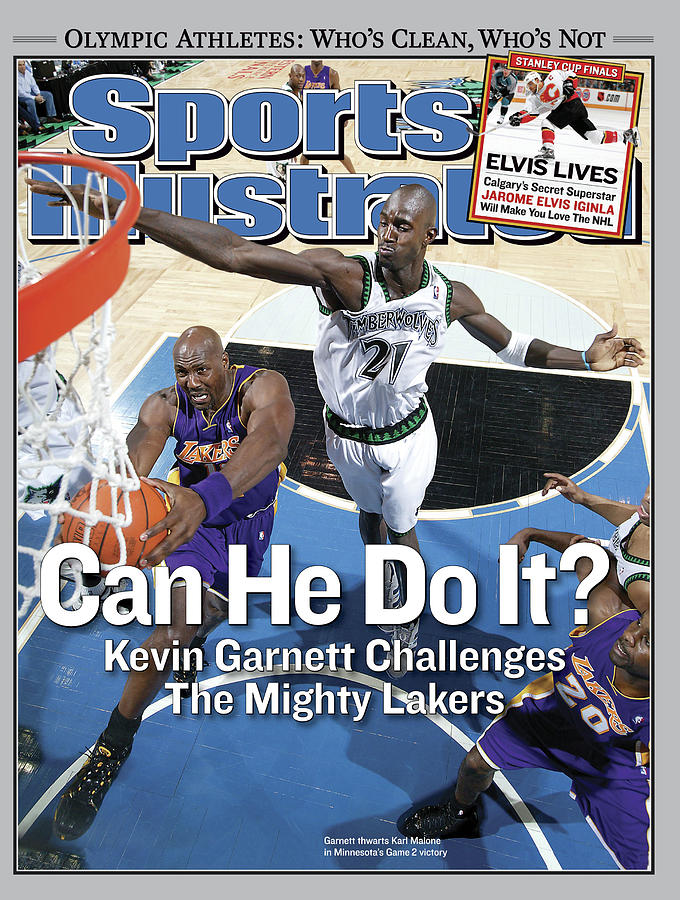Can He Do It Kevin Garnett Challenges The Mighty Lakers Sports Illustrated Cover Photograph by Sports Illustrated
