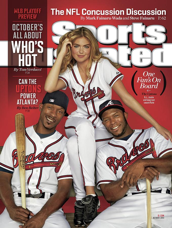 Can The Uptons Power Atlanta One Fans On Board 2013 Mlb Sports Illustrated Cover Photograph by Sports Illustrated