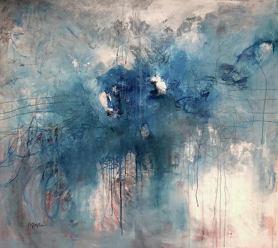 Can You Hear Me Now in Blue by Laurie Maves ART
