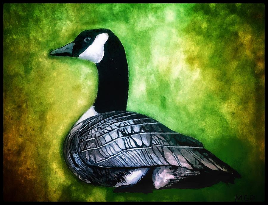Canada Goose Portrait W/ Border Painting