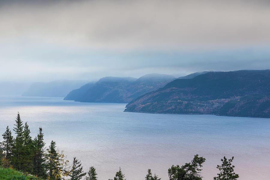 Autumn Photograph - Canada, Quebec, Saguenay Fjord by Walter Bibikow