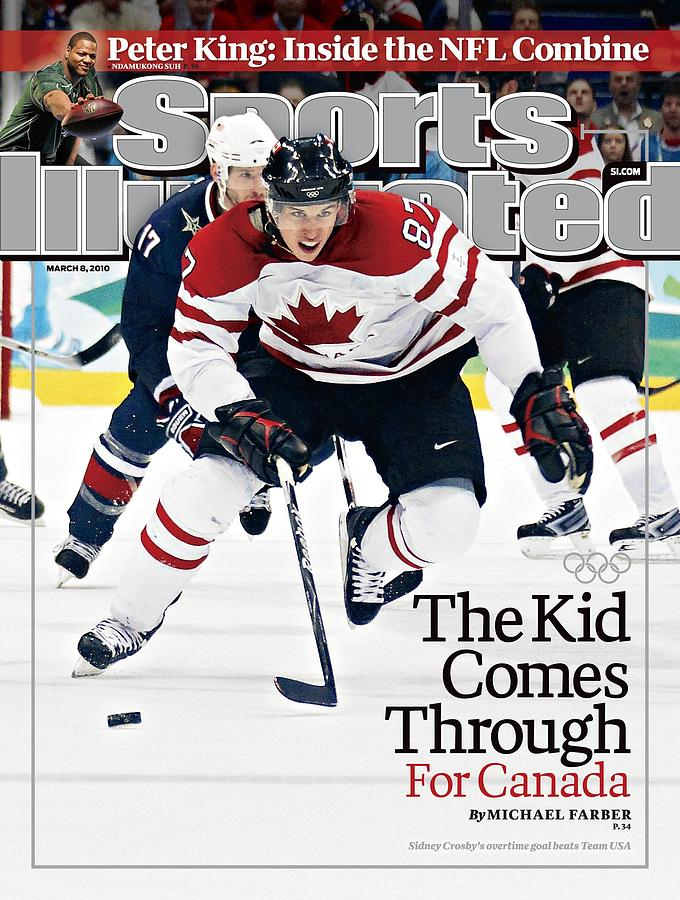 Canada Sidney Crosby, 2010 Winter Olympics Sports Illustrated Cover Photograph by Sports Illustrated