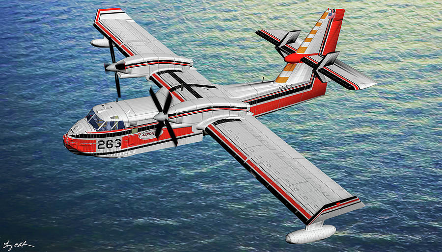 Canadair Fire Bomber Cl415 - Oil by Tommy Anderson