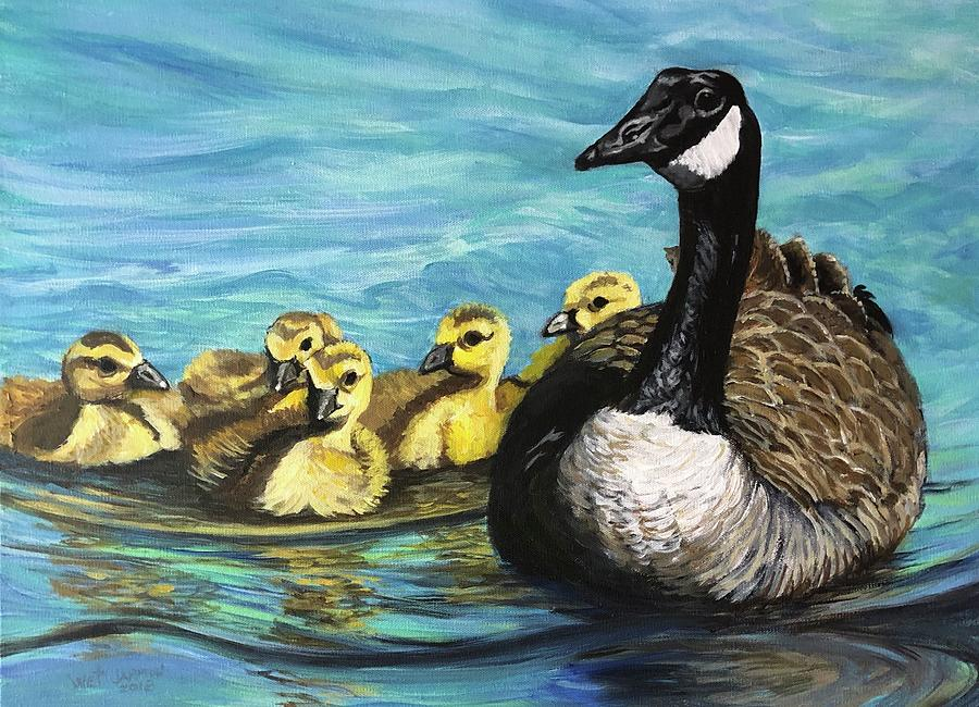 Canadian Goise and Goslings by Jeanette Jarmon