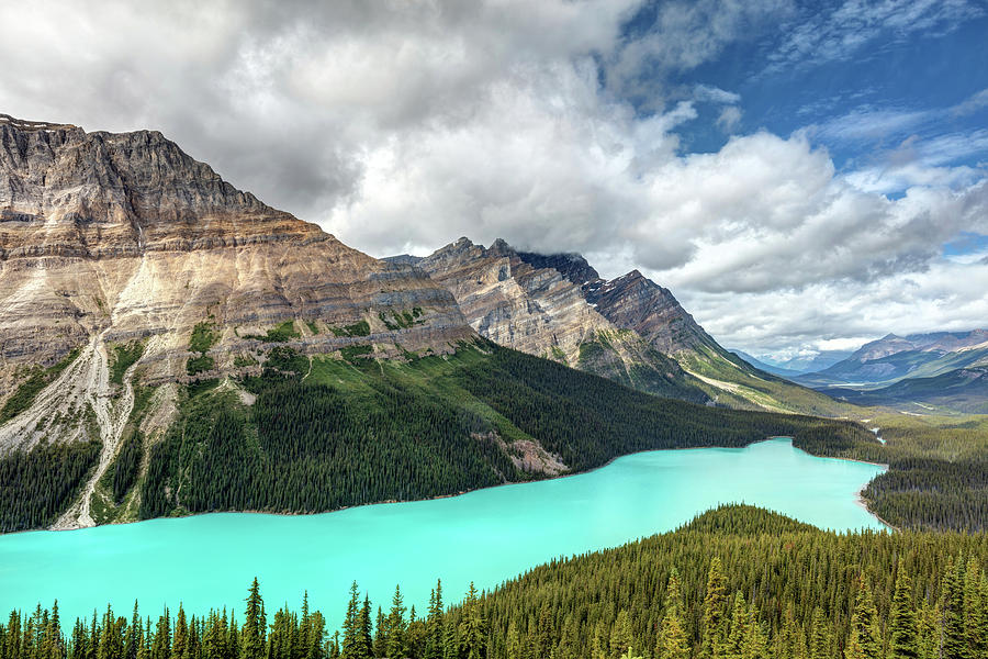 Peyto Lake Photograph - Canadian Icon Peyto Lake by Pierre Leclerc Photography