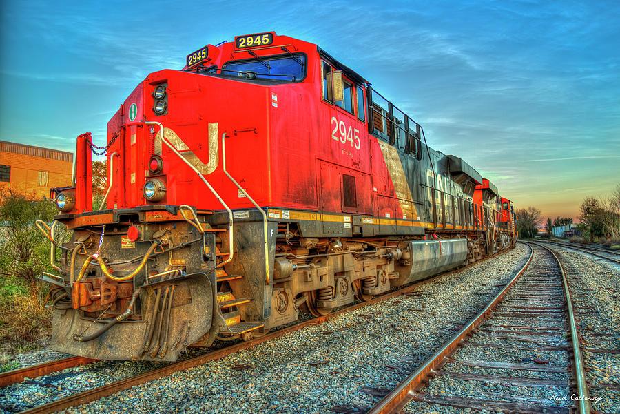 Canadian National Trains Norfolk Southern Locomotives Art Photograph