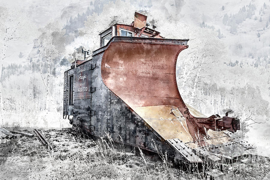 Canadian Pacific Snow Plow by Brad Allen Fine Art
