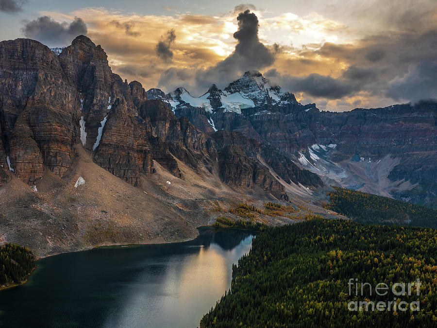 Canadian Rockies Dramatic Skies Over Sunburst Peak Photograph