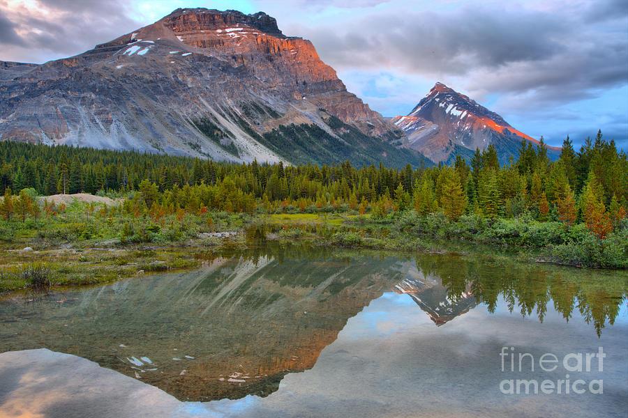 Canadian Rockies Twin Sunset Peaks by Adam Jewell