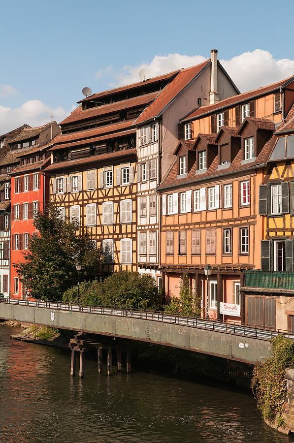 Canal And Half-timbered Houses Photograph by John Elk Iii