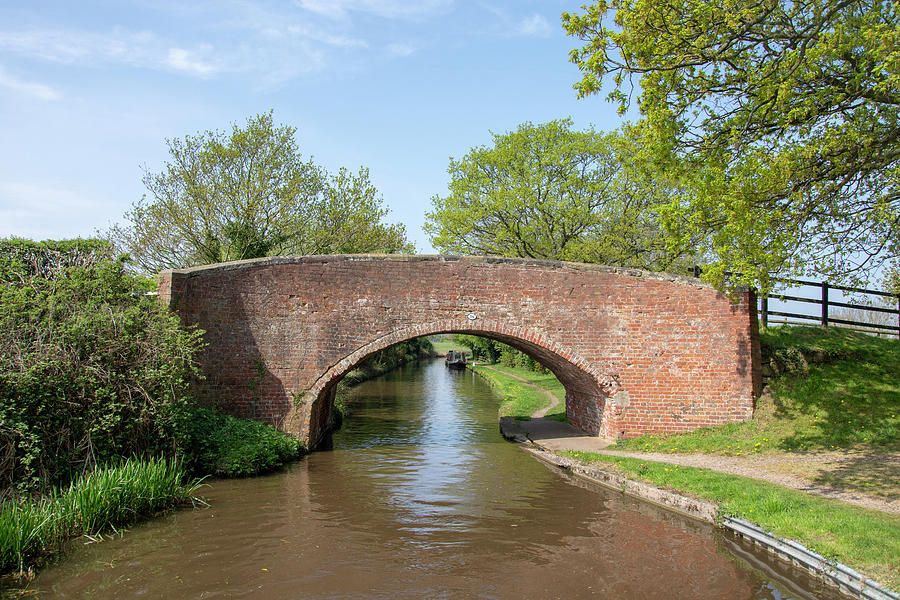 Canal Photograph - Canal Bridge 56 by Steev Stamford