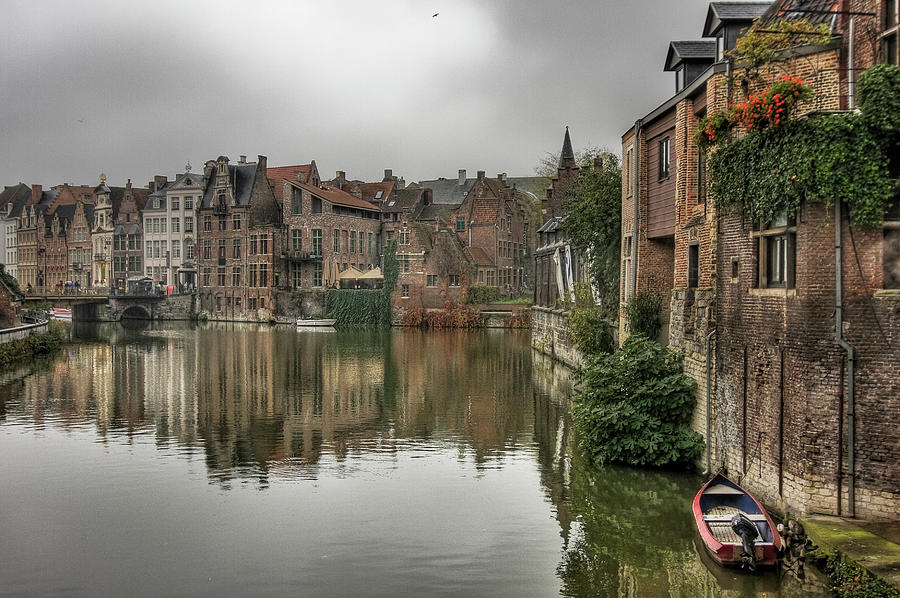 Canal Ghent Photograph by All Rights Reserved - Copyright