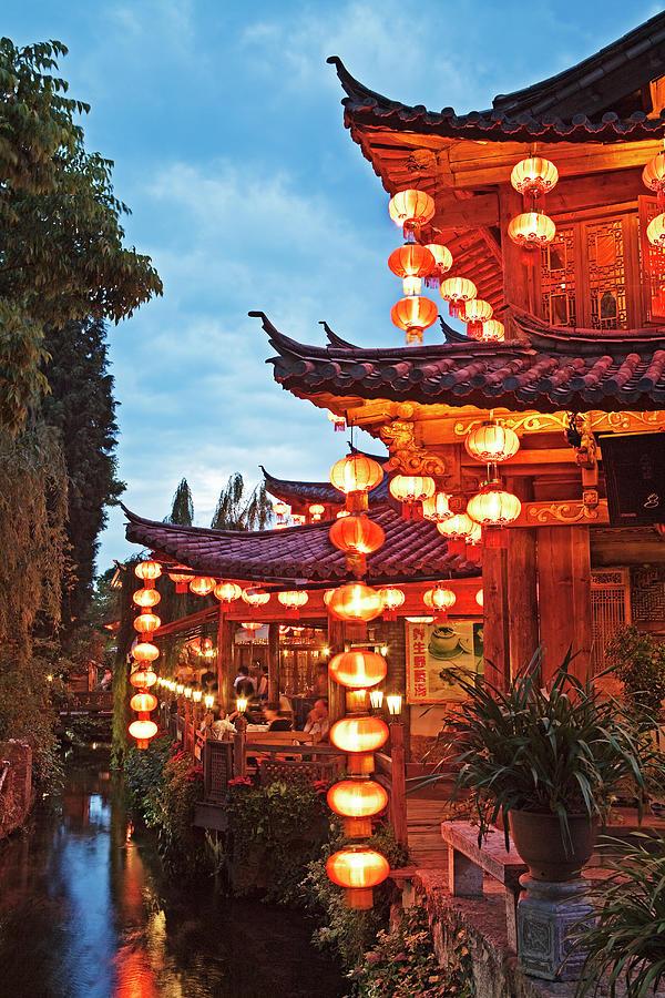 Canal In Lijiang Old Town. Yunnan, China Photograph by John W Banagan