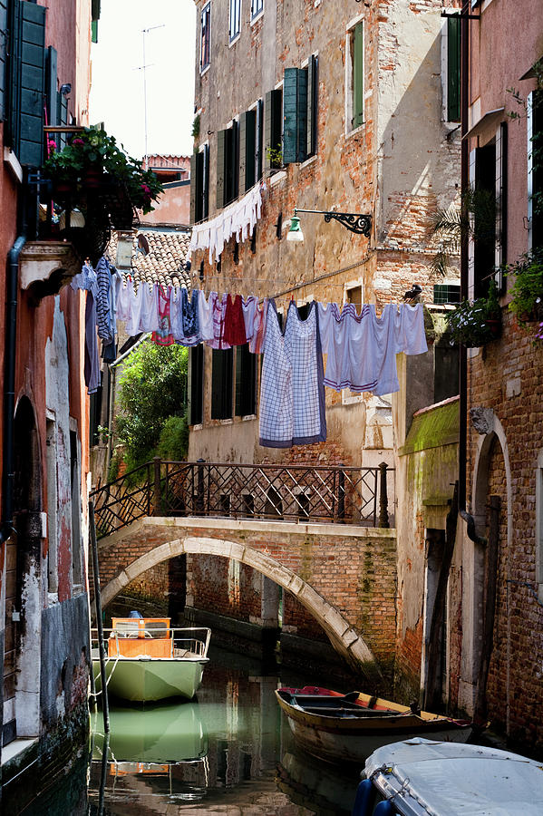 Canal In San Marco District Photograph by Jorg Greuel