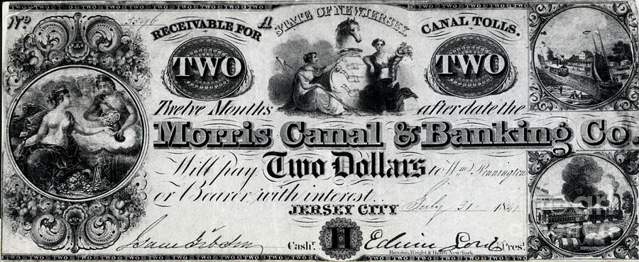 Canal Money Issued By New Jersey Photograph by Bettmann