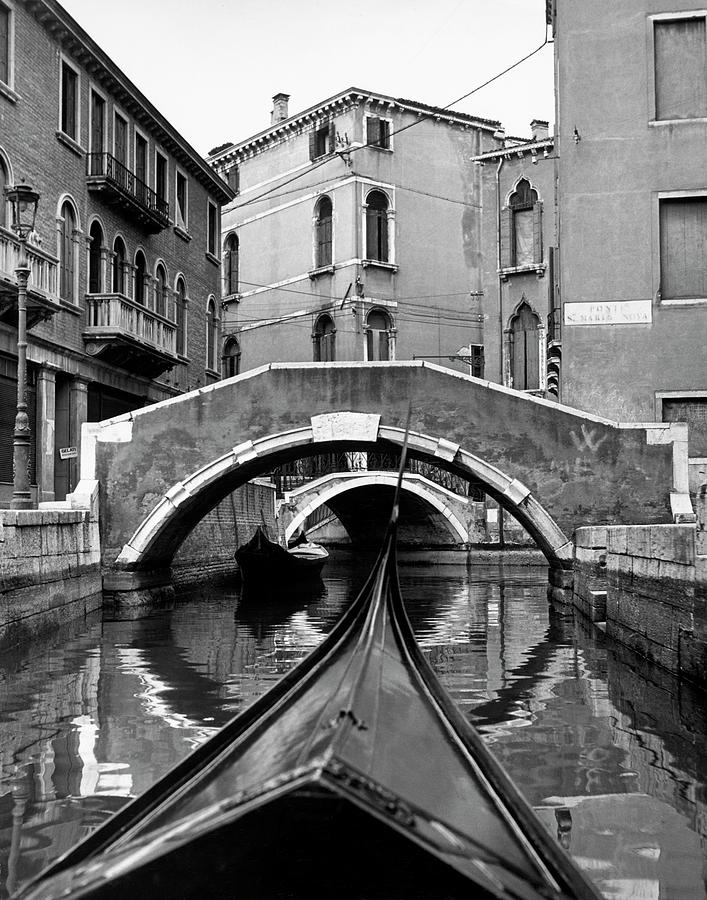 Canal On Island Of Burano In Venetian Photograph by Alfred Eisenstaedt