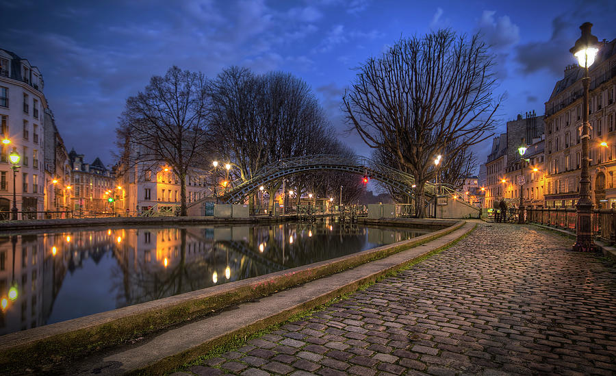 Canal St. Martin, Paris Photograph by Jimmy Mcintyre
