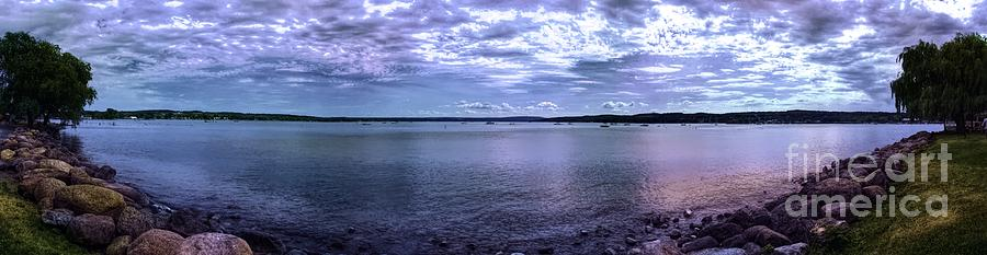 Canandaigua Lake Panorama Hyper Color Effect by Rose Santuci-Sofranko