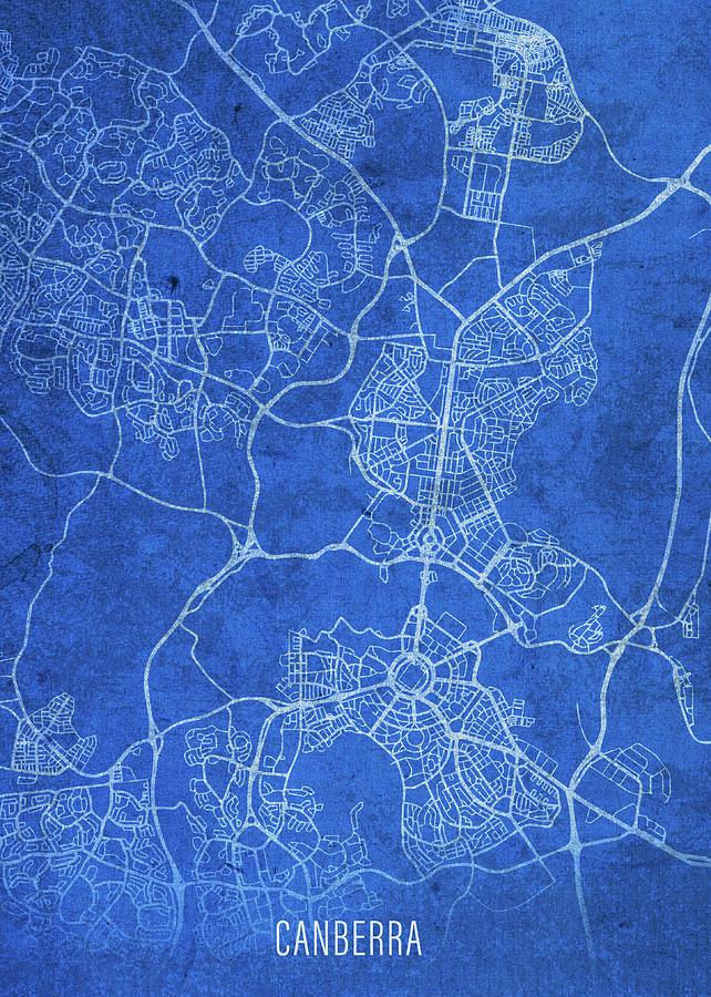Street Map Australia.Canberra Australia City Street Map Blueprints By Design Turnpike