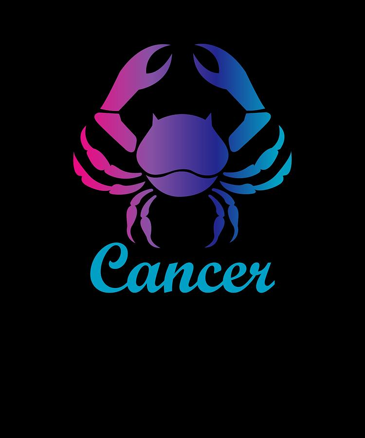 Cancer Water Sign Graphic Zodiac Birthday Gift Idea Horoscope Design