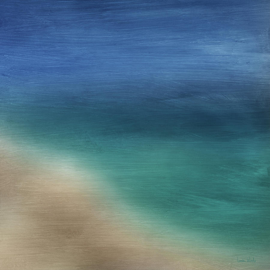 Abstract Mixed Media - Cancun Coast- Art By Linda Woods by Linda Woods
