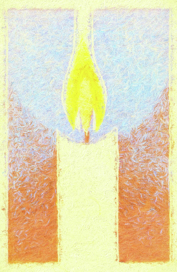 Candle Flame Pastel by Carol Leigh