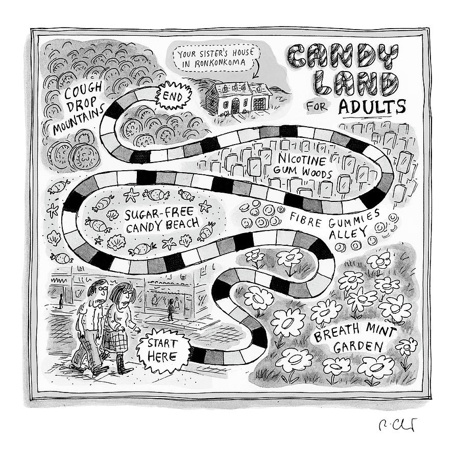 Candy Land For Adults Drawing by Roz Chast
