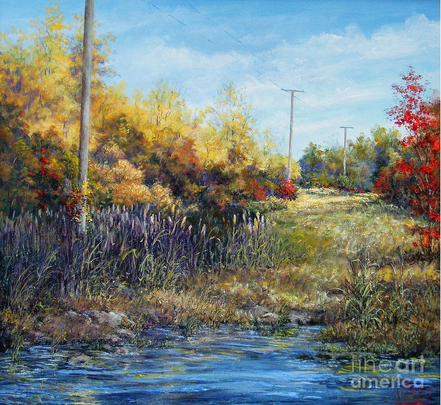 Caney Creek Cattails  by Virginia Potter