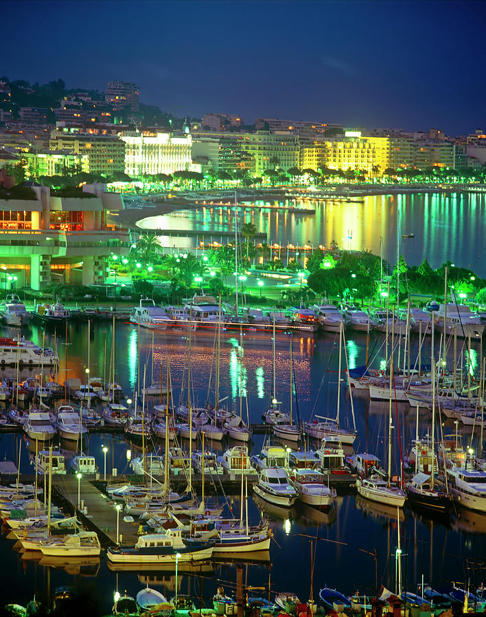 Cannes Cityscape, Les Croisette And The Photograph by Kathy Collins
