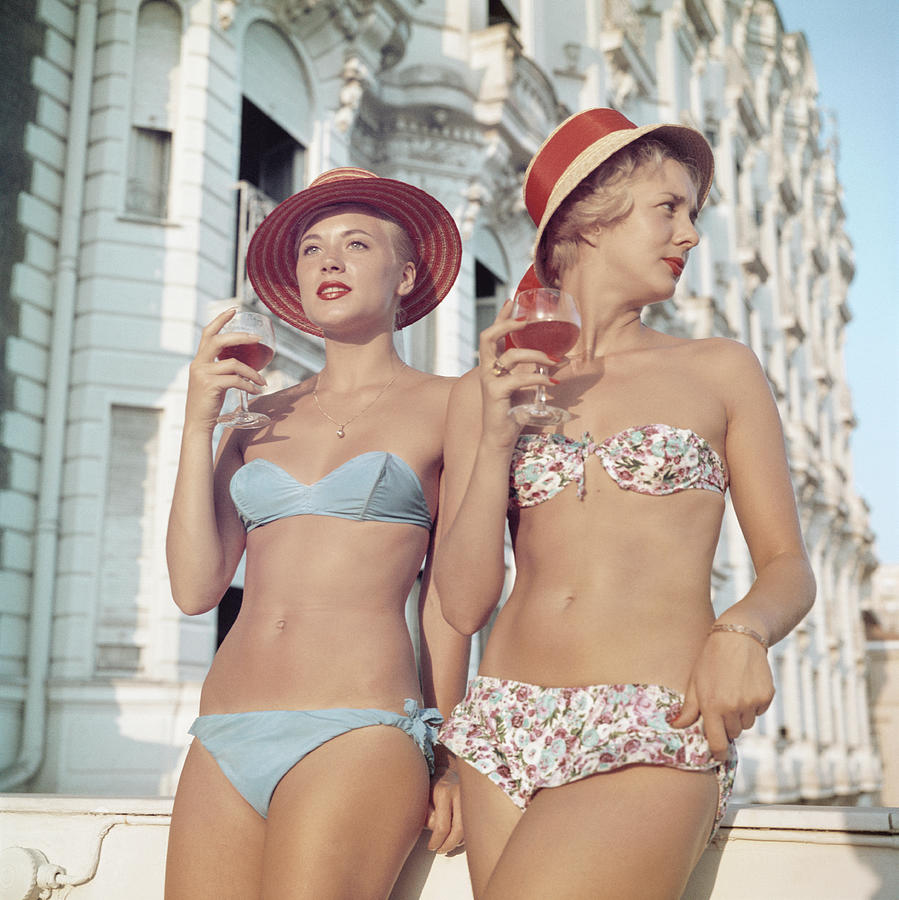 Cannes Girls Photograph by Slim Aarons